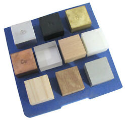 10 PIECE DENSITY CUBE DEMONSTRATION KIT ASSORTED MATERIAL 1