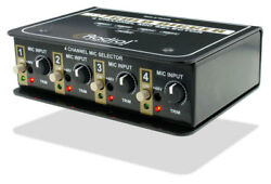 Radial Gold Digger - Switch Between 4 Mics Routed to the Same Preamp