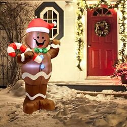 5ft Self Inflatable Christmas Decorations Gingerbread Man Indoor Outdoor Yard US