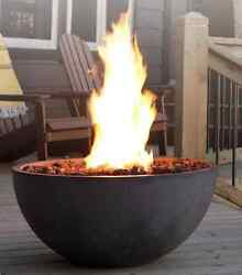 Kingsman Outdoor Gas Fireplace Fire Pit Patio Heater Propane Bowl Natural Gas