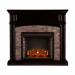 Electric Fireplace Wood TV Stand Entertainment Center Media Console Heater