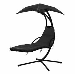 Modern Luxury Hanging Chaise Lounge Chair Patio Umbrella Outdoor Furniture Swing
