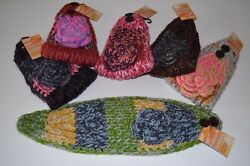 Headband Ear Warmer Winter Multi color With Flower 2 Buttons To Adjust Size $8.99