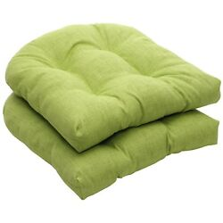 Furniture Green Wicker Seat Cushion For Home Outdoor Patio Lawn Chaise Seater