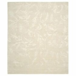 Nourison Silk Shadows SHA01 Indoor Area Rug Ivory 8.5L x 11.5W ft.