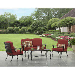 Outdoor Dining Set Patio Garden Furniture 4 Piece Chairs Table Yard Deck Bistro