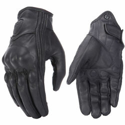 2020 Retro Real Leather Motorcycle Gloves Moto Waterproof Gloves Motocross Glove $16.99