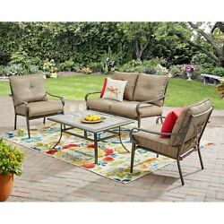 Outdoor Dining Set Patio Garden Furniture Table Chairs Lawn Yard Deck Bistro 4PC