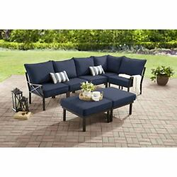 Outdoor Patio Dining Furniture Set 7 Piece Garden Deck Yard Lawn Table Chairs
