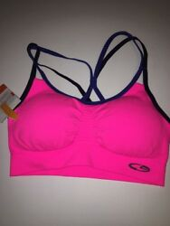 Champion Sports Bra medium Support Size XS Duo Dry Hot Pink Racer Back $13.99