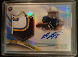 2013 Topps Platinum Keenan Allen Nice 4 Color Patch Auto Rc # to 1000 $26.95