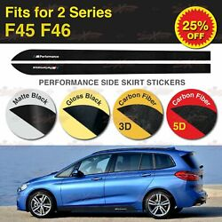 For BMW F45 F46 220 225 M Performance Side Skirt Sill Stripe Vinyl Decal Sticker