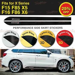 For BMW F15 F16 F85 F86 M Performance Side Skirt Sill Stripe Vinyl Decal Sticker