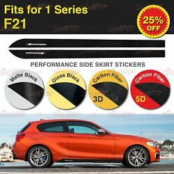 For BMW F21 118 125 135 M Performance Side Skirt Sill Stripe Vinyl Decal Sticker