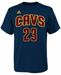 Lebron James Cleveland Cavaliers Navy Youth Name and Number Jersey T-shirt Navy