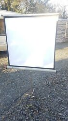 Vintage Folding Portable Projector Screen Screen Size 35.5 Inches Square