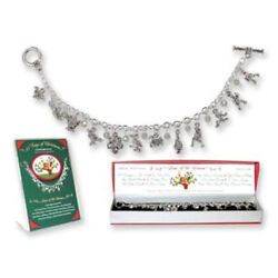 12 Days of Christmas Charm Bracelet $10.80