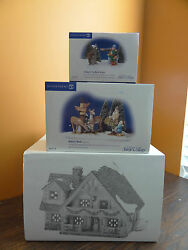Dept 56 Hunting Lodge Cabin House Camping Wood Christmas Village Accessory Lot