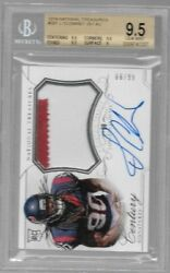 2014 National Treasures Jadeveon Clowney 2 Clr Patch Auto Rc # to 99 BGS 9.5 GEM $219.95