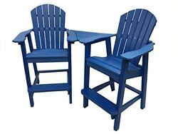 Phat Tommy Recycled Poly Resin Balcony Chair Settee – Durable and Adirondack ...