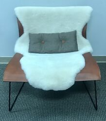 Walter Knoll Cuoio Lounge Chair with Sheep Fur and Button Cushion