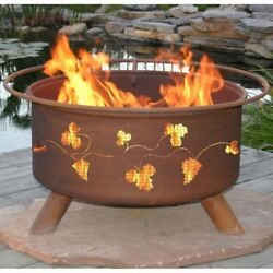 Grapevine Fire Pit with Grill and FREE Cover 33 diam. x 16H in.