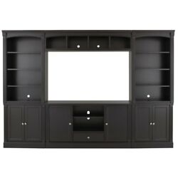 Large Tall Entertainment Center Pieces Hub Mixed Media Stand Smart 4k Digital TV