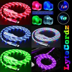 LED Light Up Charging Charger Cable USB Cord iPhone Android Micro Type C Phone $14.99