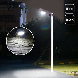 12PCS Outdoor LED Solar Street Light IP65 Dusk to Dawn Motion Sensor Post Lamp