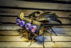 IN 4 NIXIE CLOCK MILITARY DRONE 2 as Z568M IN 18 Handmade amp; Unique $750.00