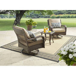 Outdoor Dining Set Patio Garden Furniture Swivel Chairs Table Lawn Deck Wicker