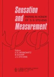 NEW Sensation and Measurement: Papers in Honor of S. S. Stevens