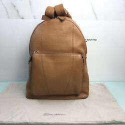 Backpack Leather Santoni Man 100% Made In Italy Maxi