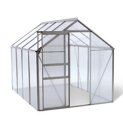 Ogrow OGAL-866 Walk-in Lawn and Garden Greenhouse with Heavy Duty Aluminum Frame