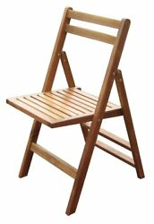 Set of 4 Wooden Folding Chairs Outdoor Garden Patio Classic Chair Acacia Seat