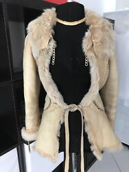 Roberto Cavalli Cuero Coat- runway! GORGEOUS!!! with gold chain
