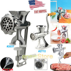 Manual Multi Meat Grinder Mincer Sausage Filler Chopper Pasta Maker Table Home