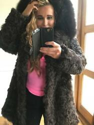 Mr & Mrs Lady Parka 100% shearling silk lined shearling lined hood
