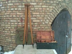 Geodetic Surveying Tripod Tool Field Large Plane Table Case 30s 40s USSR Army $300.00