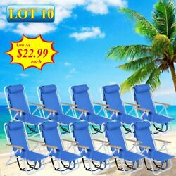 WHOLESALE 10 Backpack Beach Chair Folding Portable Solid Camping Outdoor Yard VP