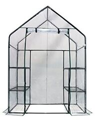 3 Tier 6 Shelf Walk In Green House Replacement Cover Clear Color