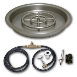 American Fireglass Round Drop In Pan with Spark Ignition Kit