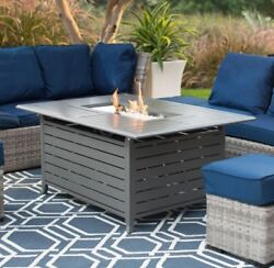 Fire Pit Table Large Firepit Top Outdoor Patio Deck Pool Yard Heater Propane Gas