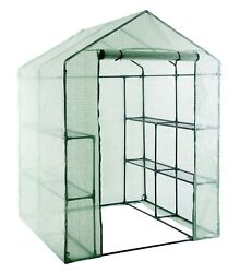 Walk in Portable Garden Greenhouse Mini Plants Shed Hot House 3 Tiers 12 Shelves