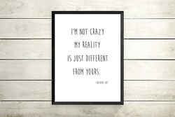 Alice in Wonderland Inspirational Quote A4 Print gallery wall quote print GBP 4.99