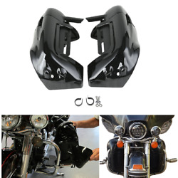 Glossy Black Lower Vented Leg Fairing For Harley Touring Street Road Glide 83 13 $59.12
