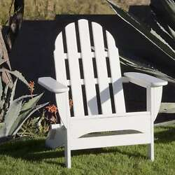 Outdoor Lounge Chair Folding Classic Adirondack Sturdy Weather Proof