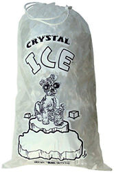 20 LB LBS Commercial Ice Bags Bag w Drawstring 510253550100...300400500