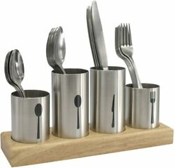 Sorbus Silverware Holder with Caddy for Spoons Knives Forks Stainless Steel $19.99