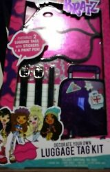 BRATZ Luggage Travel Tag Kit Purple Stickers Paint Pen New in Package $3.00